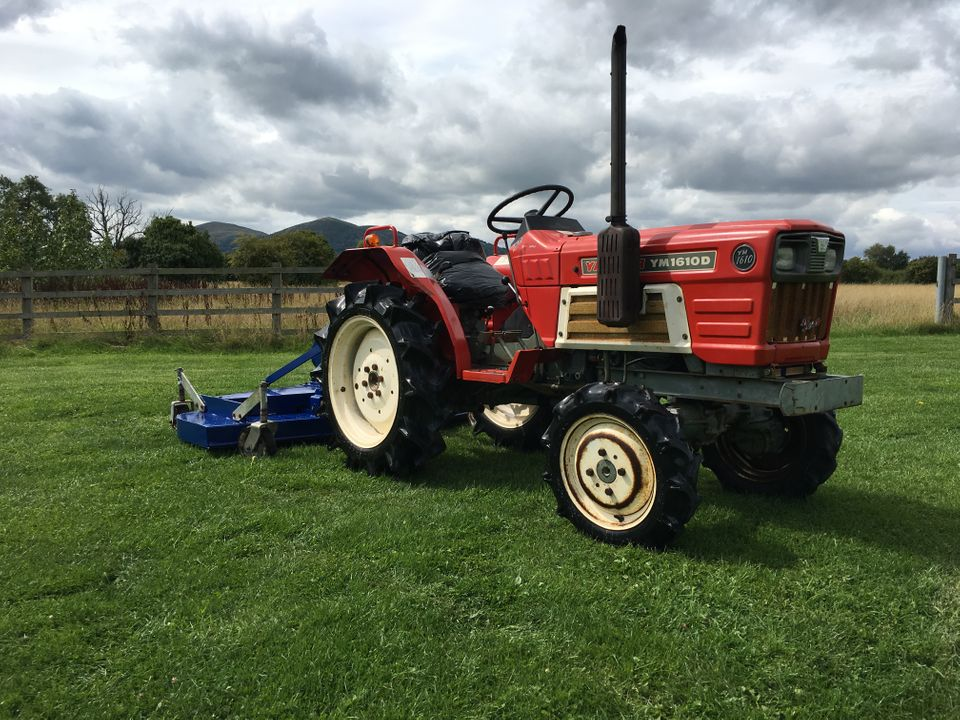SOLD Yanmar 1610D Compact Tractor and Finishing Mower